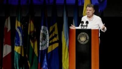 El presidenteJuanManuelSantoshabla en el Seminario Justicia Transici...