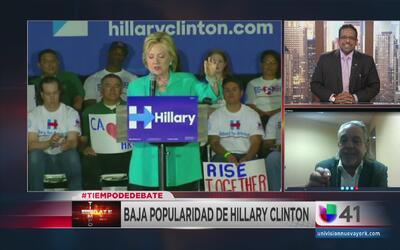 ¿Se desinfla Hillary Clinton como candidata demócrata?