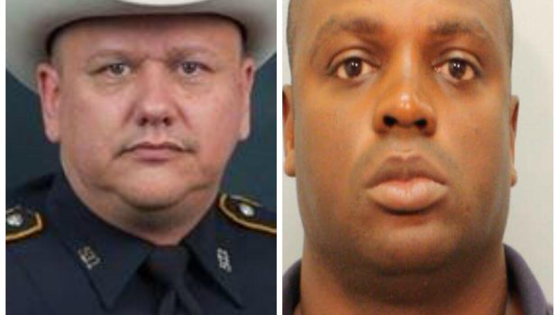 Oficial Darren Goforth (izquierda), Shannon J. Miles (derecha).