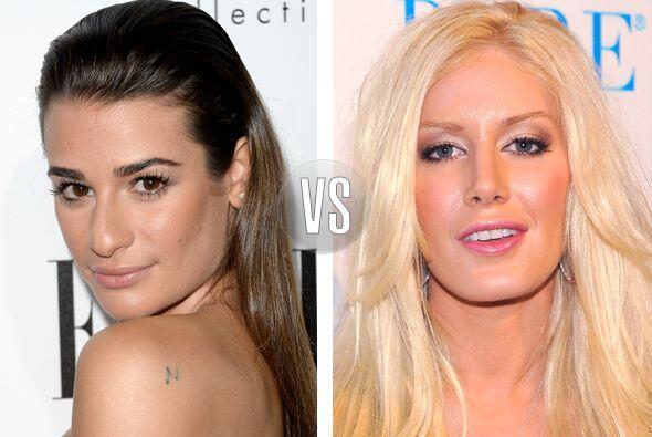 Lea Michele y Heidi Montag tienen 27 años, pero la rubia se ha he...