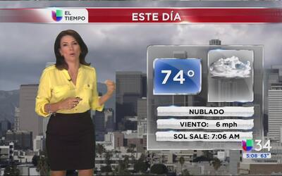 Los Ángeles tendrá un lunes nublado