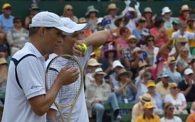 Bob y  Mike Bryan, pareja de dobles de Estados Unidos.