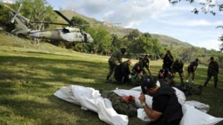 Entre los integrantes de las FARC fallecidos había siete hombres y seis...
