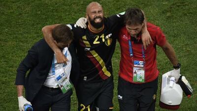 El belga abandonó el terreno de juego por lesión ante Corea del Sur en l...