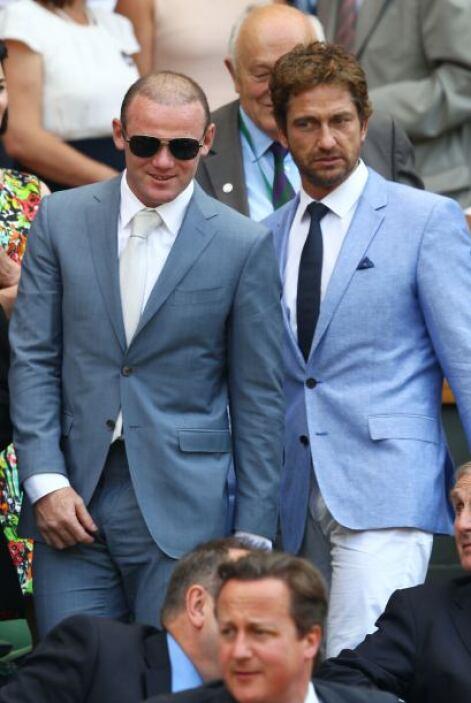 Gerard Butler y el futbolista Wayne Rooney…