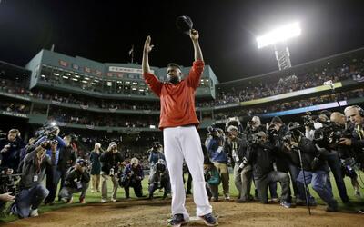 Así se despidió David Ortiz de la afición de Boston.