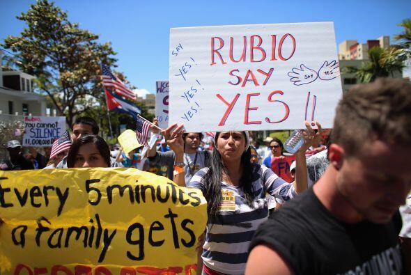 Algunos pedían a gritos parar las deportaciones.