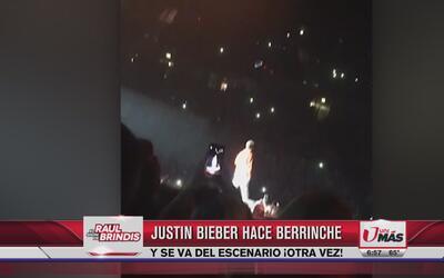 Justin Bieber hace berrinche y se va del escenario