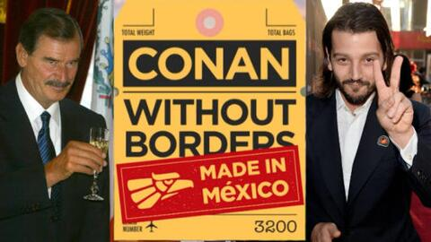 Conan to feature ex-president Vicente Fox and actor Diego Luna on his show.