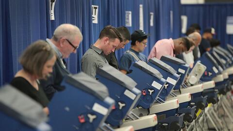 Votación temprana en Chicago, Illinois, el 18 de octubre de 2016.