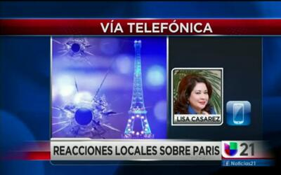 Reacciones locales sobre Paris