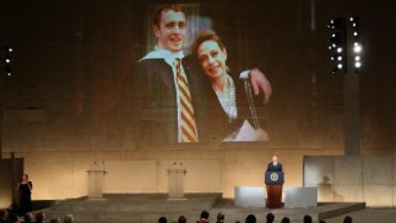 Obama dedicó a Welles Crowther palabras de agradecimiento durante la ina...