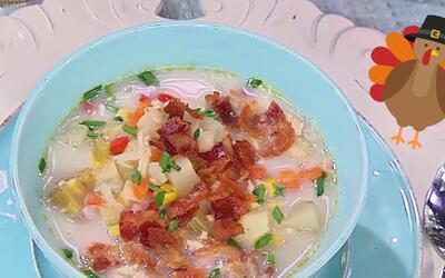 Lo más calientito previo al Día de Gracias: Una otoñal Sopa de Cremosa d...