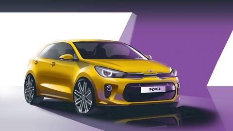 La cuarta generación del Kia Rio debutará en el Auto Show...