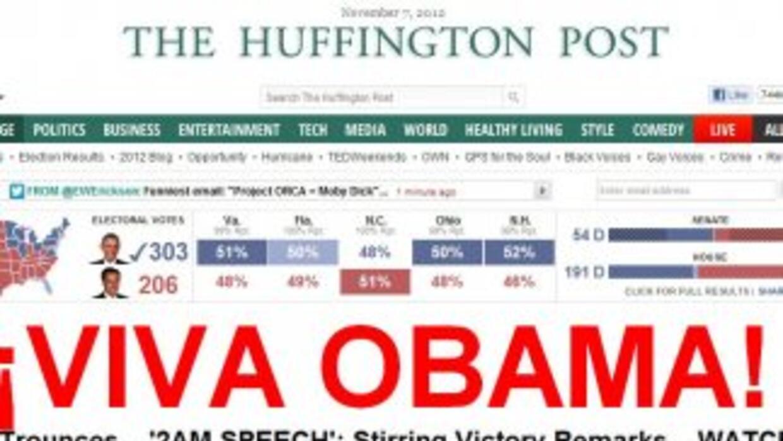 Entre los diarios de EEUU, destaca la portada delHuffington Post, que t...