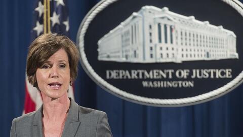 Sally Yates era la fiscal general en funciones, a cargo del Departamento...