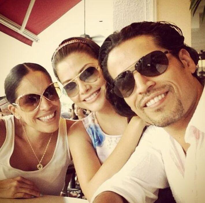 """""""Disfrutando del domingo"""", escribió Ana Patricia en esta foto donde se l..."""