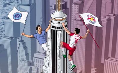 New York City FC vs New York Red Bulls posters