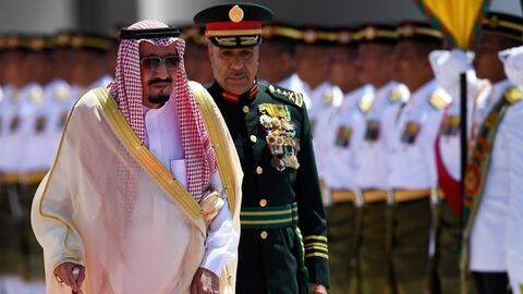 En un minuto: La opulencia del rey de Arabia Saudita en su gira por Asia