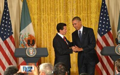 Obama recibió a Peña Nieto en la Casa Blanca