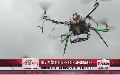 Hay más drones que aeronaves tripuladas en EEUU
