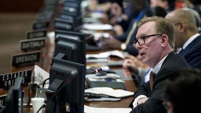 Estados Unidos defiende en la OEA las sanciones contra Venezuela
