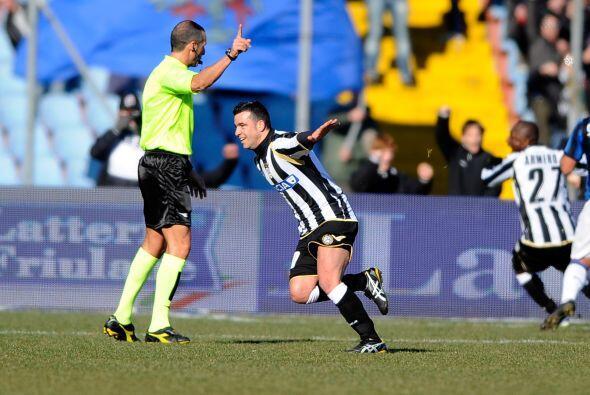 Pero más tarde llegó la reacción de Udinese, primer...