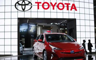 A 2016 Toyota Prius hybrid is seen at the Washington Auto Show in Washin...