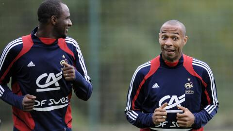 Patrick Vieira y Thierry Henry, Francia