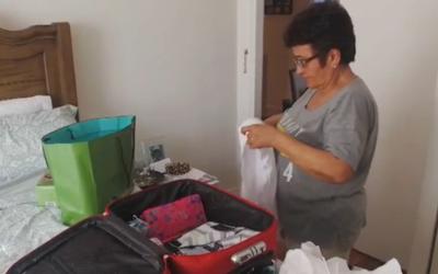 Luisa Eslao viajará de regreso a su hogar utilizando equipaje de mano.