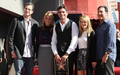 HOLLYWOOD - NOVEMBER 16: (L-R) Comedian Bob Saget, producer Lori Laughli...