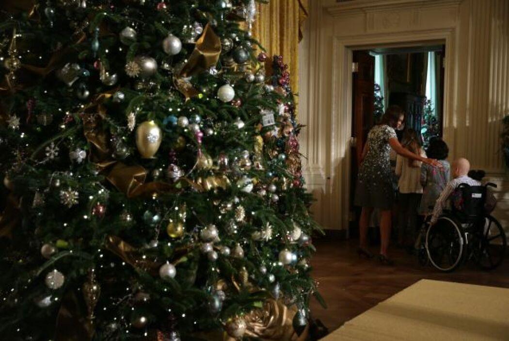 Otra pieza importante de las decoraciones es el árbol de Navidad de la C...