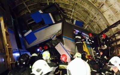 Así terminó uno de los vagones del metro accidentado en Moscú (Imágen co...