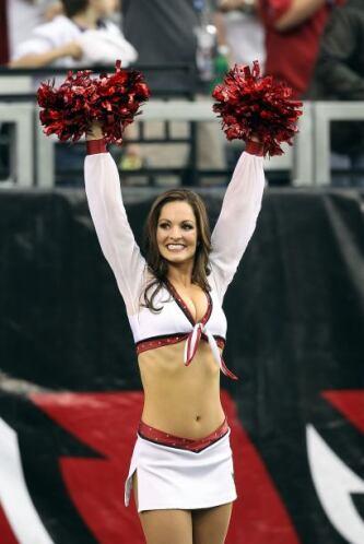 De los Arizona Cardinals, Allie, con cinco años como cheerleader.
