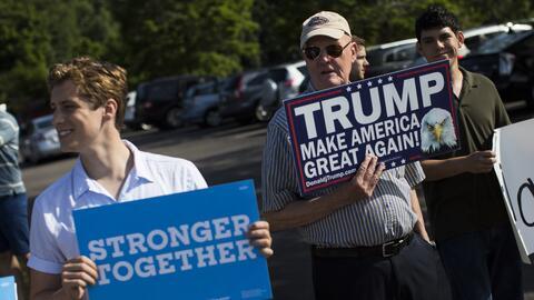 Clinton lleva una gran ventaja en estados decisivos como Pensilvania, Vi...