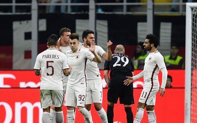 La Roma le peg+o 4-1 al Milan