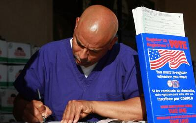 Votantes en California