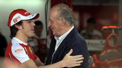 Fernado Alonso y el rey Juan Carlos
