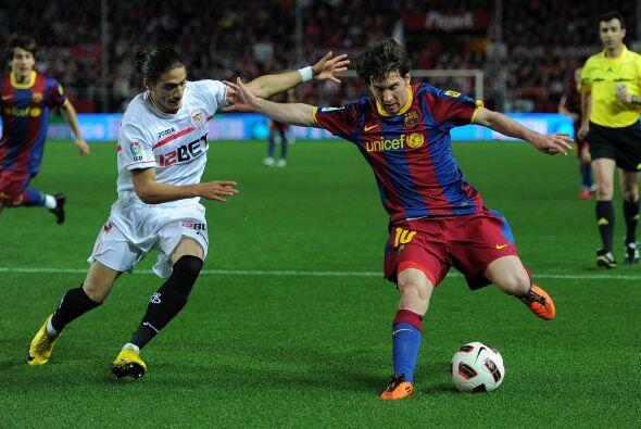 Lionel Messi comenzó a hacer alarde de su talento y marcó...
