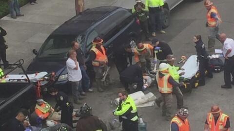 Accidente en una construcción de Oakland dejó al menos una docena de her...