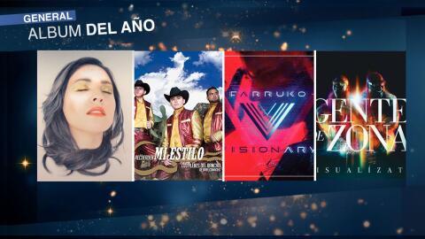 Estos son los discos nominados Premio Lo Nuestro 2017 categoría g...