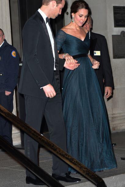 La duquesa no llevó abrigo, a pesar de las bajas temperaturas.