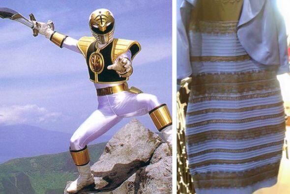 ¡Qué lindo el Power Ranger usando el vestido!
