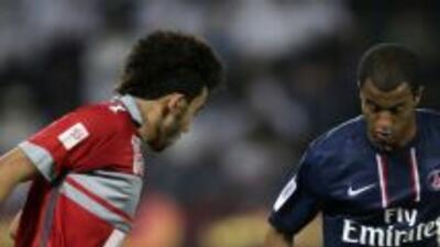 El brasileño Moura jugó sus primeros minutos como refuerzo del PSG.