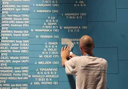 En este caso, se trata de subir el nombre del español David Ferrer, quie...