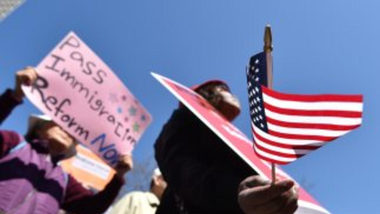 Protesta a favor de una reforma migratoria con camino a la ciudadanía pa...