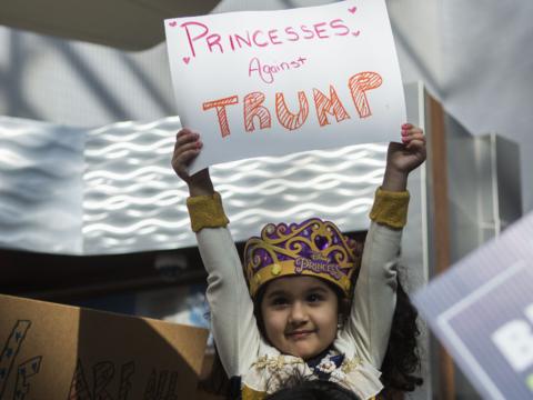 Protestas contra Trump.