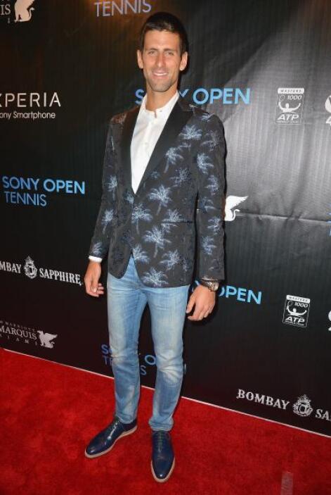 Novak Djokovic vino vestido muy al estilo de Miami con esta chaceta con...
