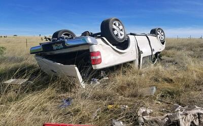 Accidente en la autopista 10 que llevó al arresto de cinco indocu...