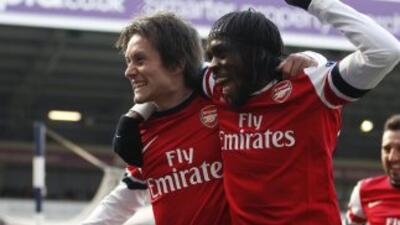 Dos goles de Thomas Rosicky dieron el triunfo a Arsenal 2 a 1 sobre West...